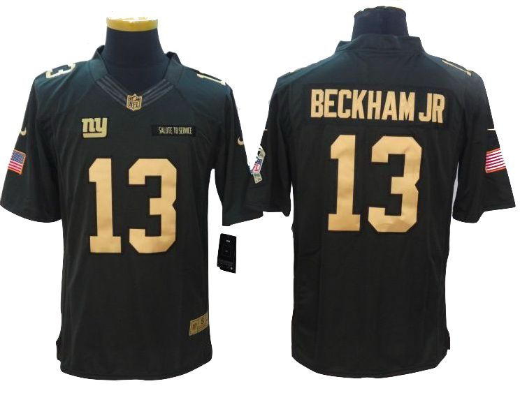 cf058a803 New York Giants Jersey -  13 Odell Beckham Jr Gold Anthracite Salute To  Service Jersey