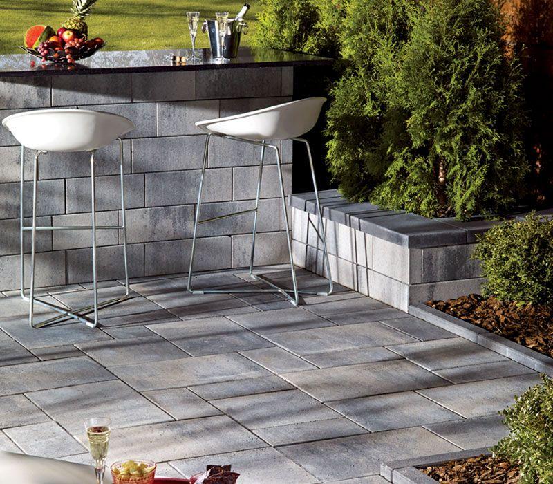 Pavé et muret Lafitt ideal pour le mobilier extérieur et un look - pave pour terrasse exterieur