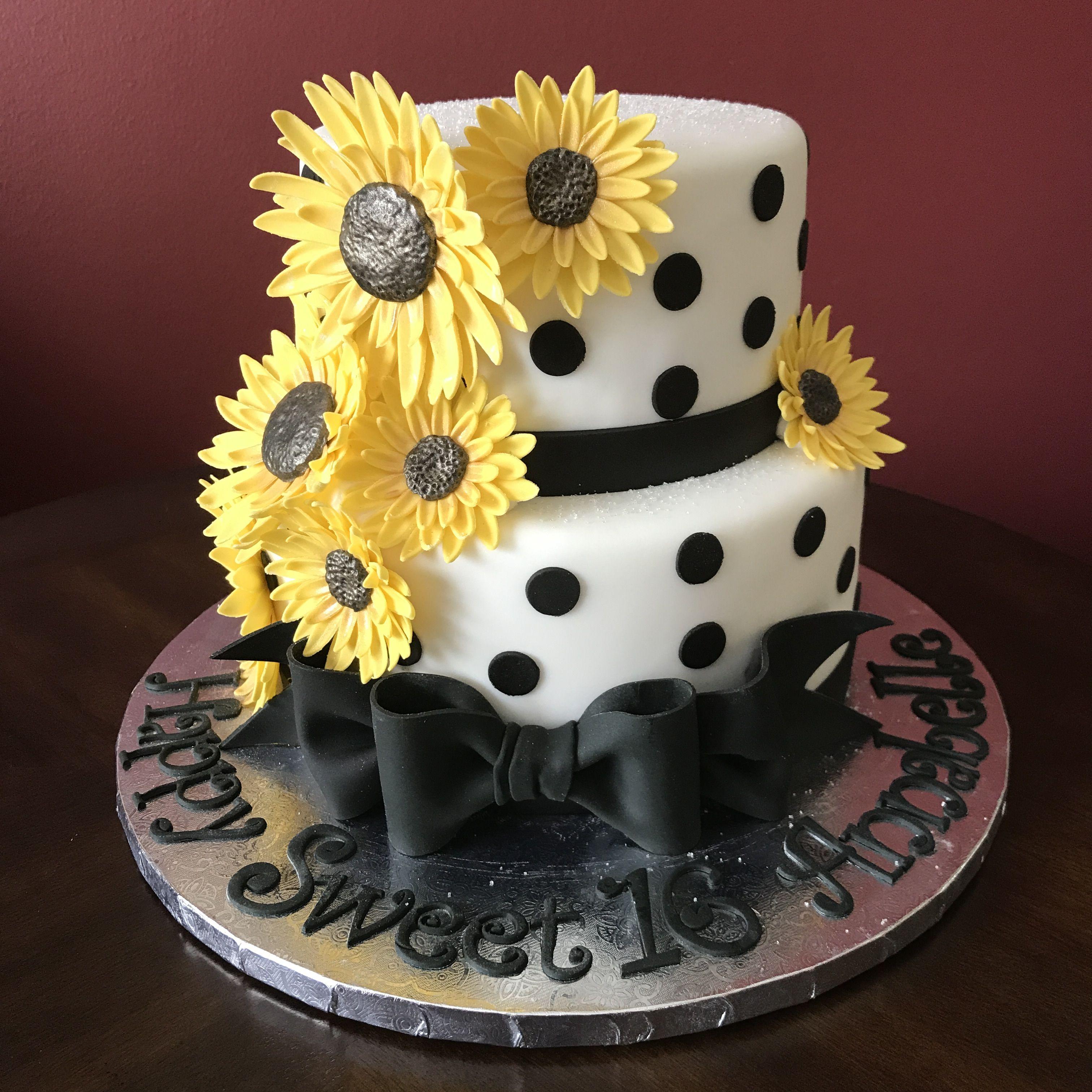 Sensational Sunflower Birthday Cake With Images Candy Birthday Cakes Funny Birthday Cards Online Necthendildamsfinfo
