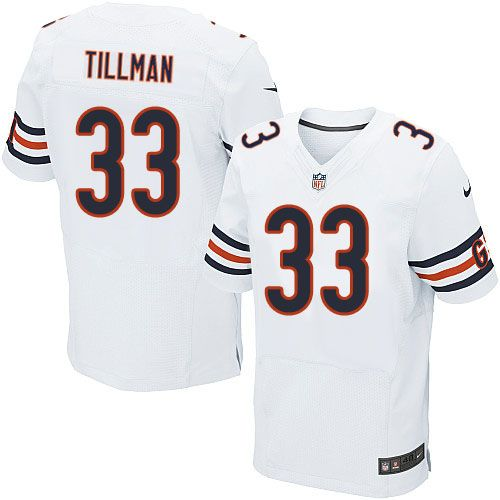 detailed look 4a074 8f30a nike chicago bears 33 charles tillman blue with orange elite ...