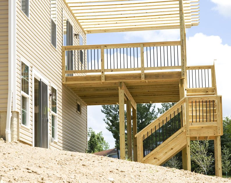 What Is The Cost To Build A Deck Use Our Calculator Building A Deck Wooden Deck Designs Decks Backyard