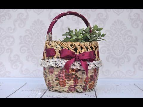 Decoupage Tutorial How To Decorate Wicker Basket Diy Tutorial