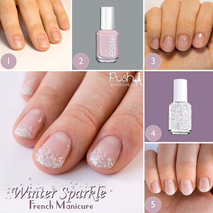 Winter Sparkle French Manicure | Sparkle french manicure, Glitter ...