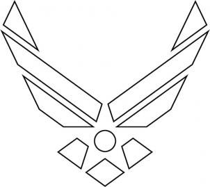 how to draw the air force symbol step 5 | Banners ~ Signs