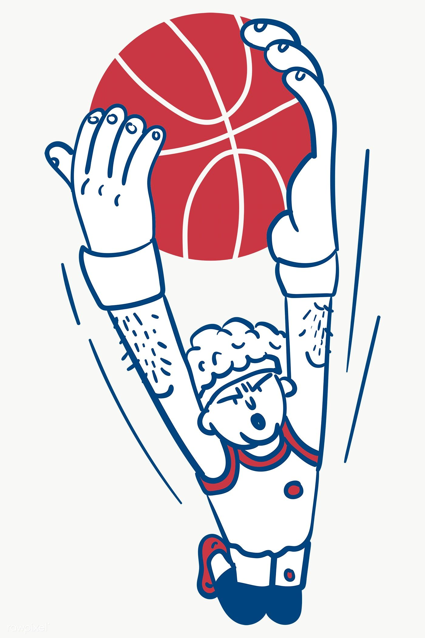 Basketball Player Shooting Transparent Png Free Image By Rawpixel Com Te Basketball Drawings Doodle Characters Teapot Drawing