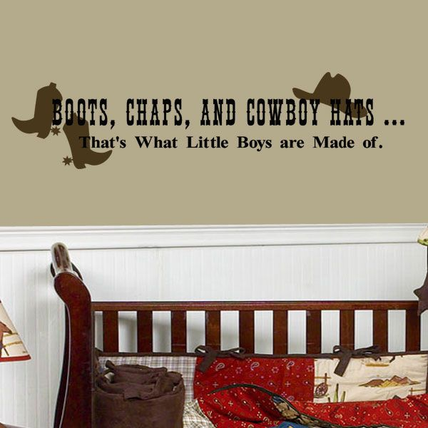 Cowboy Sayings For Little Boys Boys Wall Decals Boots