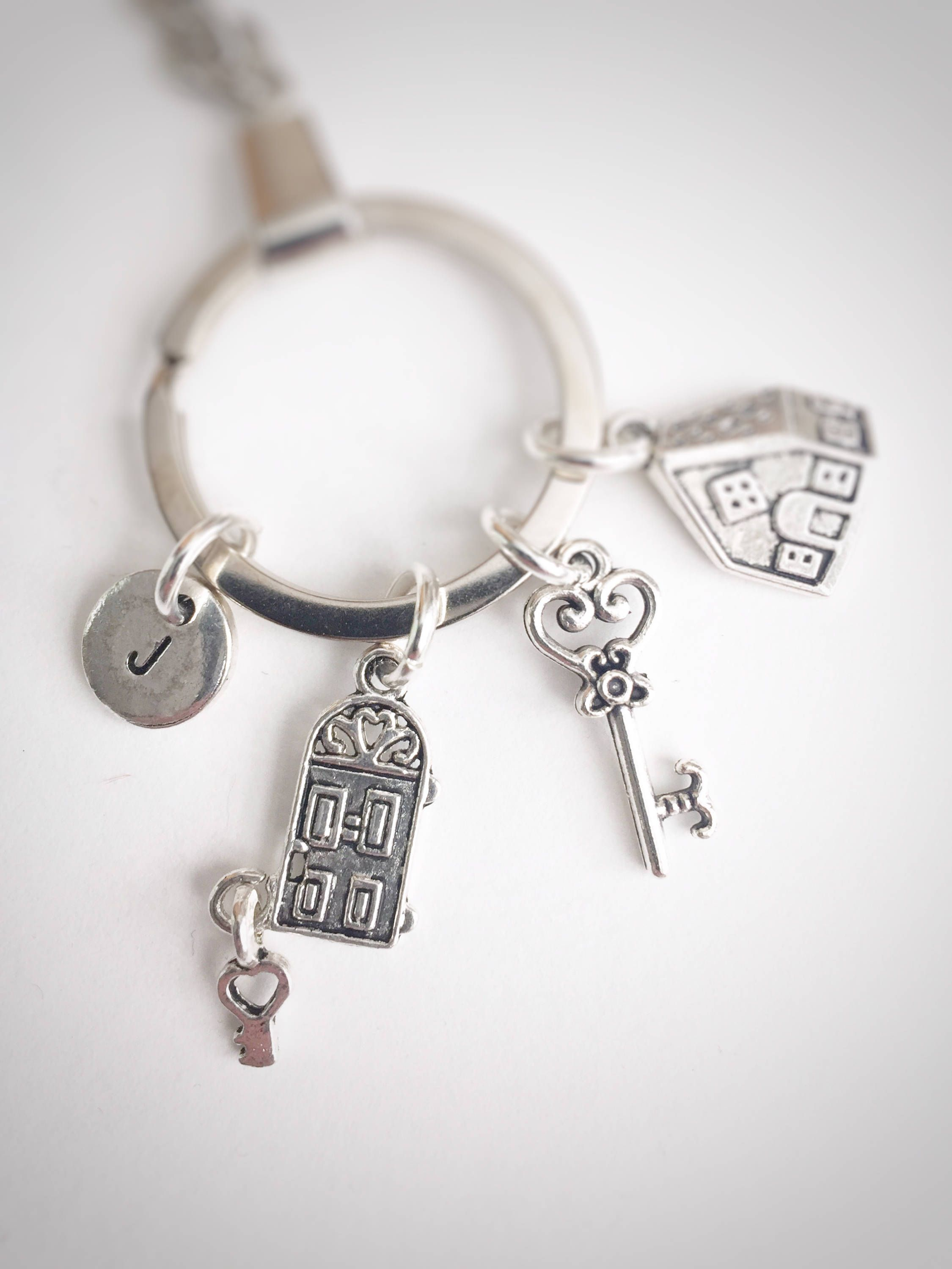 New Home Keyring, Housewarming charm Keyring, Moving House Gift ...