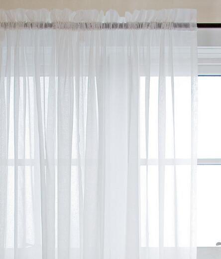 Cotton Voile Rod Pocket Curtains