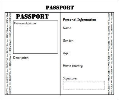 Passport Template For School Projects Wow Com Image Results