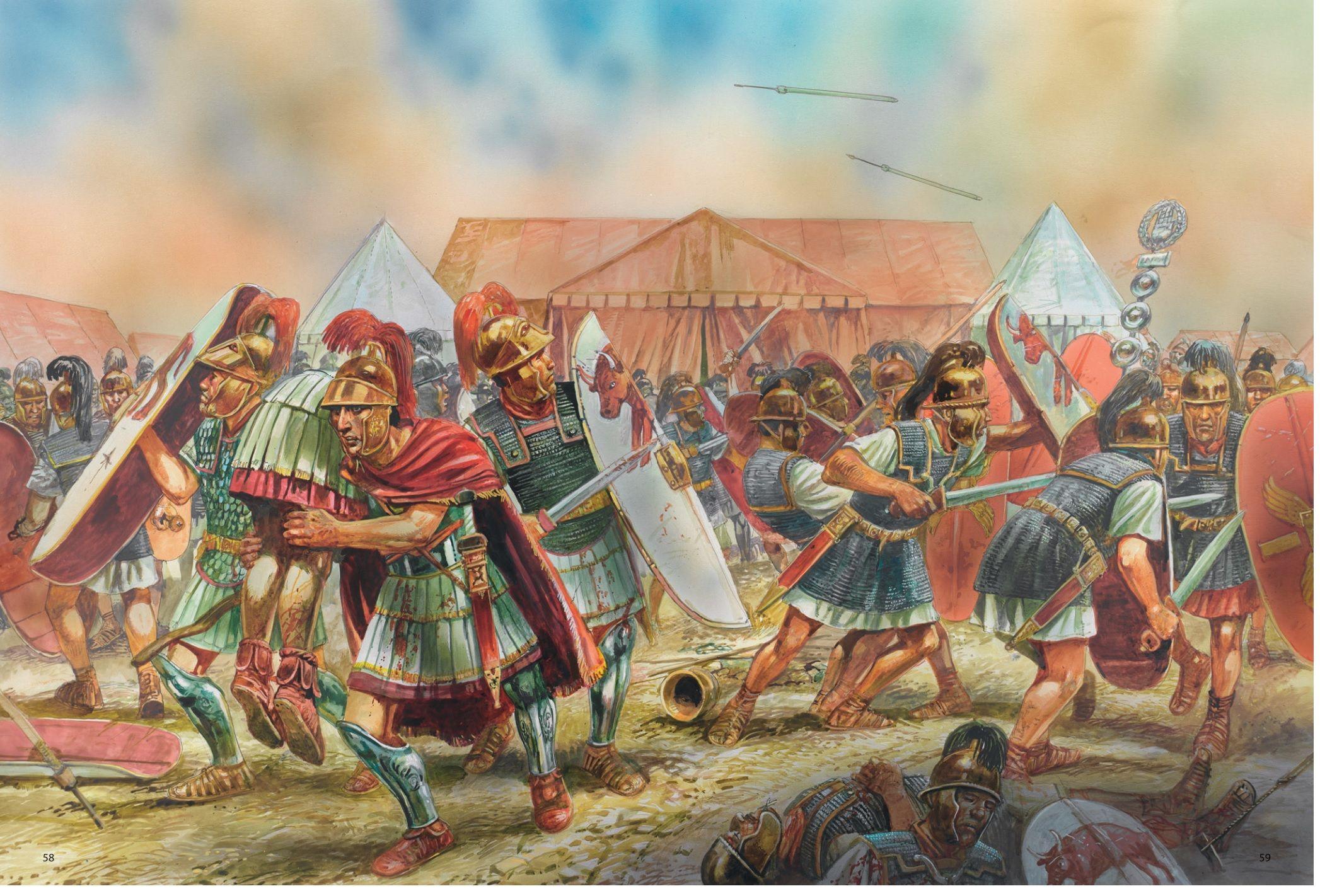 картинки античных сражений наполнить изделие лепестками