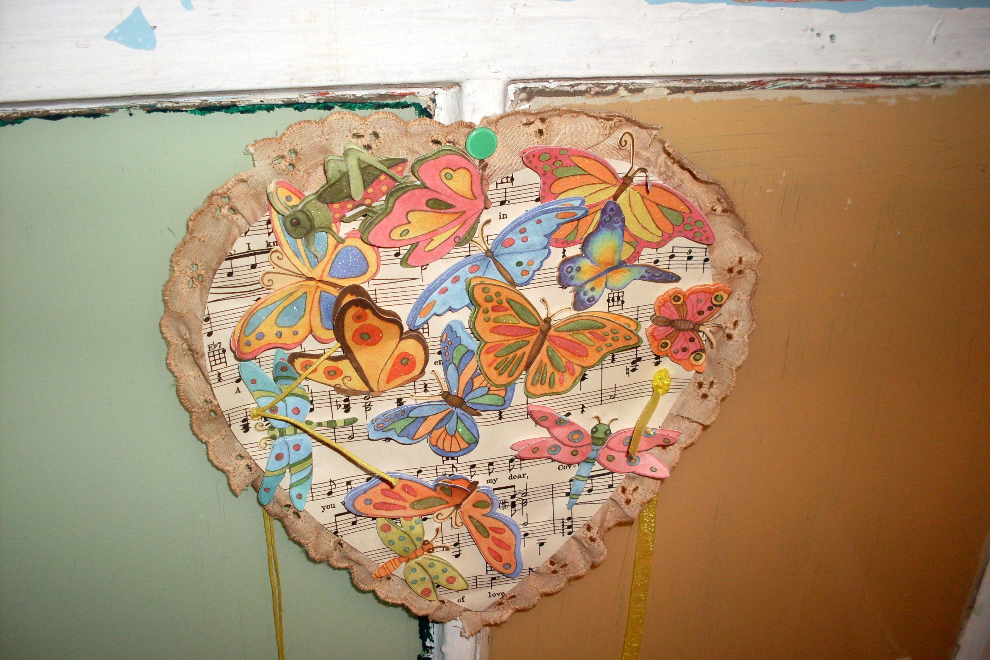 butterflies on a heart