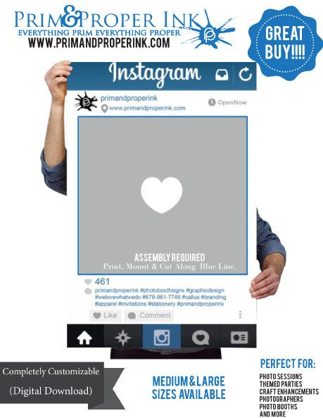 Digital File: Instagram Photobooth Prop/Frame. Photo Prop Perfect ...