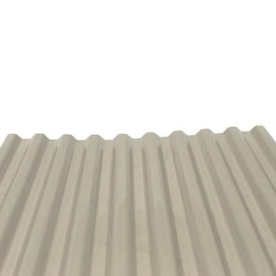 Ofic North America Deckdrain 10 Ft Pvc Roof Panel In Opaque Tan 10 Pack Pvc Roofing Roof Panels Corrugated Roofing