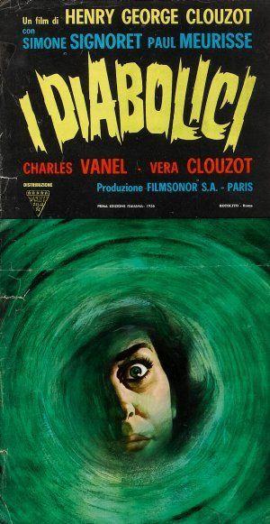 Italian poster for DIABOLIQUE / Les Diabolique (Henri-Georges Clouzot, France, 1955) | Designer: Uncredited