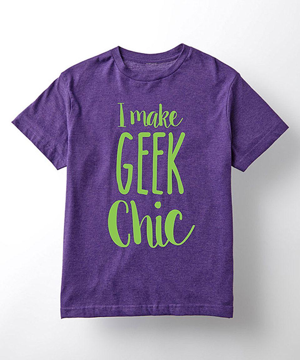 Purple 'I Make Geek Chic' Tee - Kids by Geek Garb #zulily #zulilyfinds