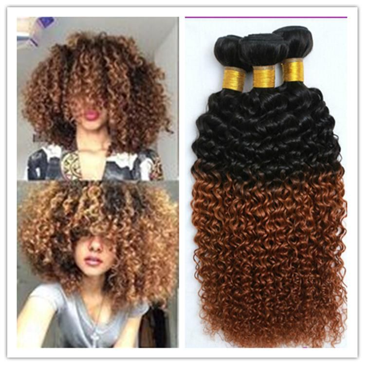 1b 30 Mongolian Kinky Curly Afro Kinky Hair Weave Bundle Unprocessed