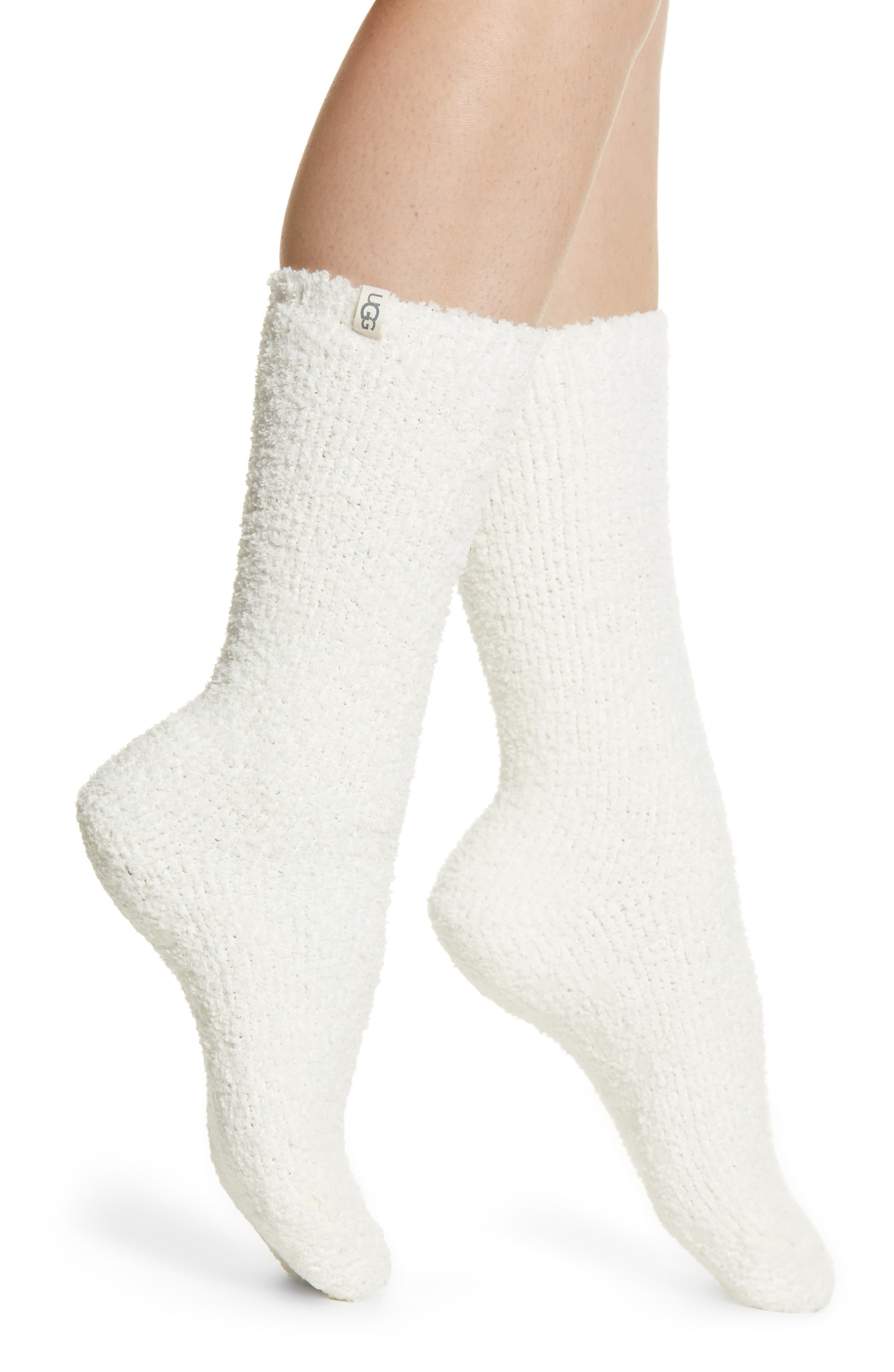 Women's UGG Alice Cozy Gripper Socks, Size One Size - White
