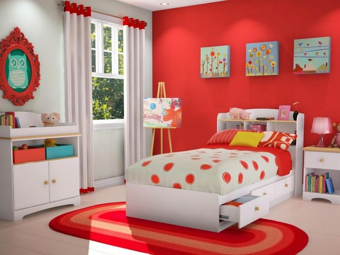 Pinterest & Red and white kids bedroom ideas | Red bedroom | Funky bedroom ...
