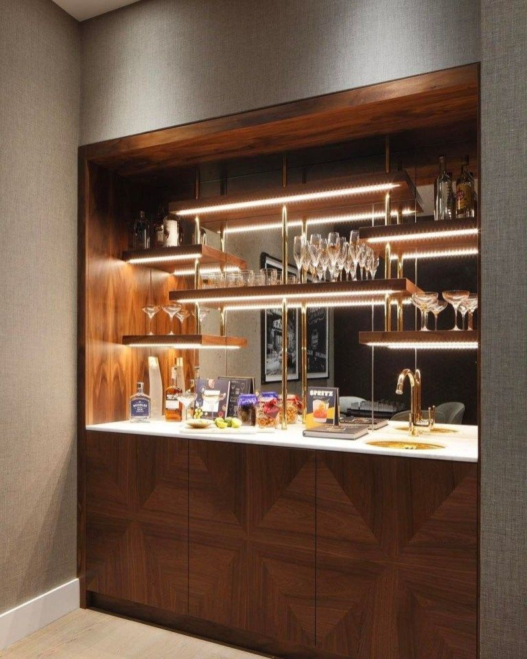 30 Elegant Mini Bar Design Ideas That You Can Try On Home