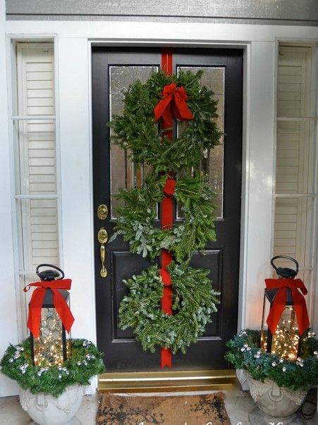 simple outdoor christmas decorations ideas google search