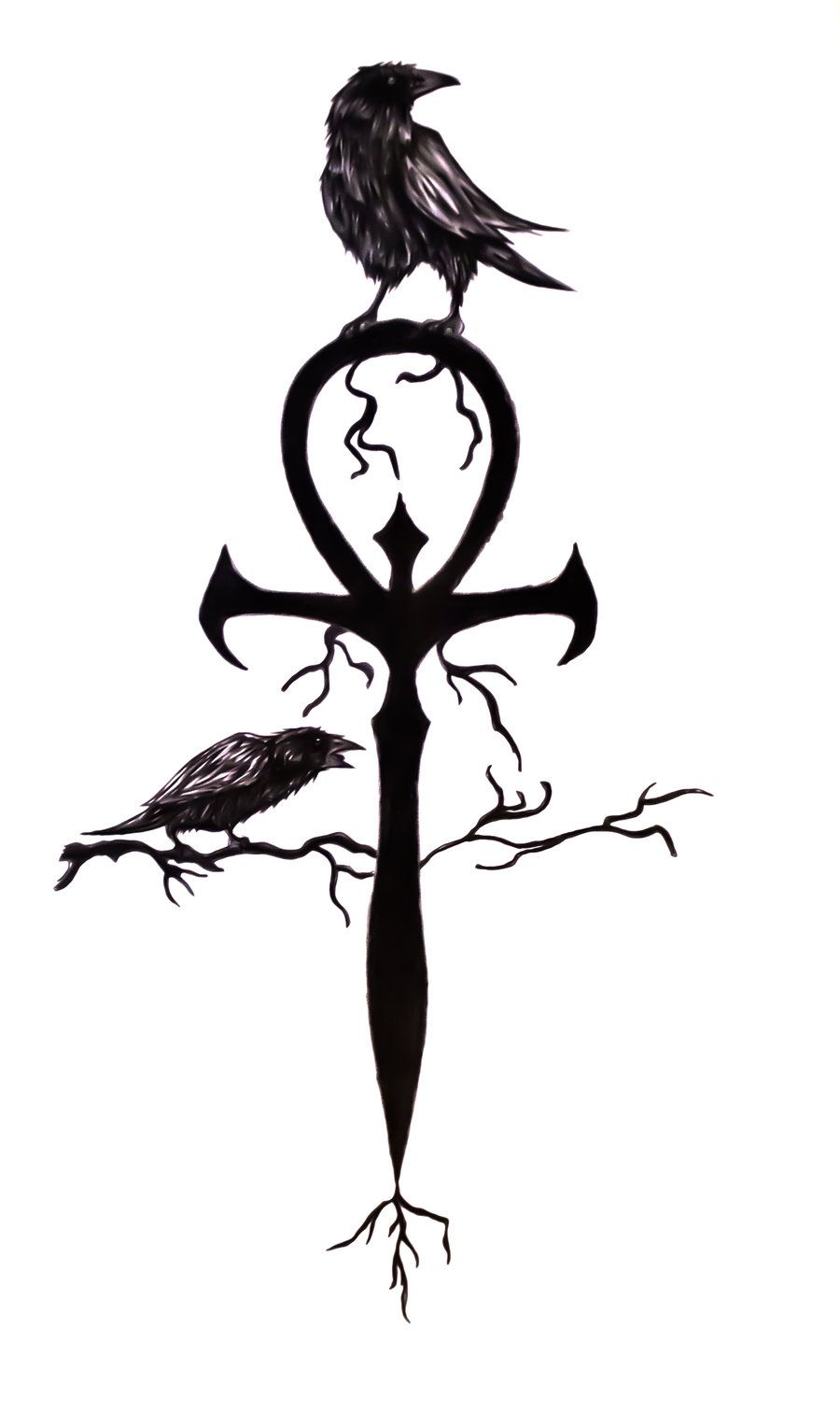 Ankh friend of mine asked me to add the crows on the basic ankh friend of mine asked me to add the crows on the biocorpaavc