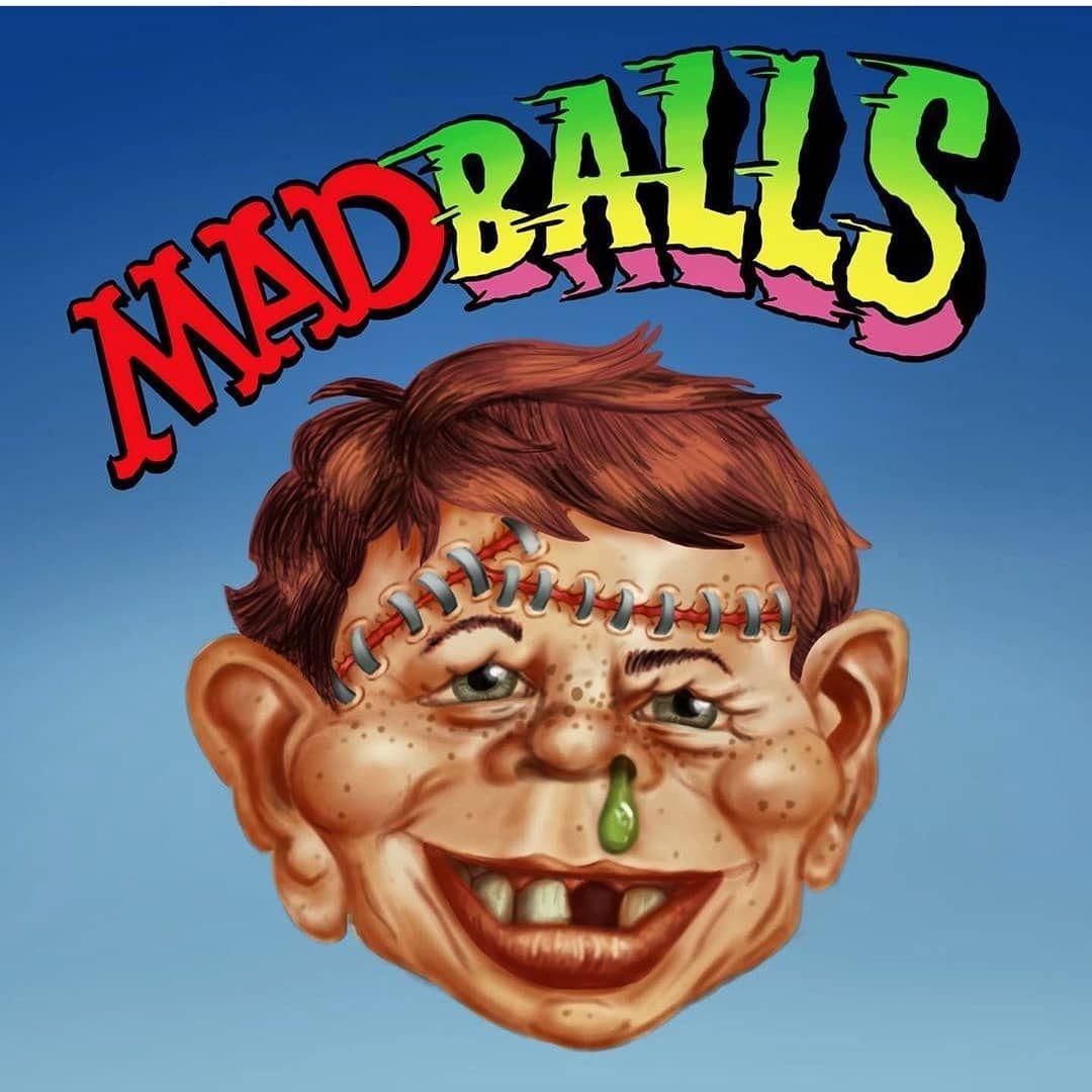 Alfred E Neuman MAD Magazine Madballs Slobulus Vinyl Sticker Decal Retro 80s KO