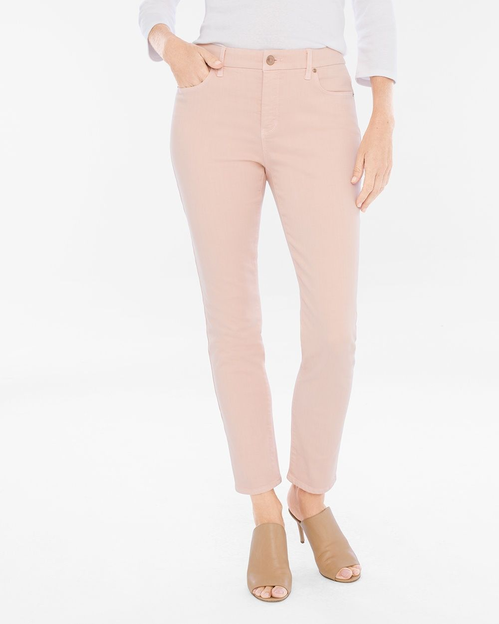 751d383e95ba Chico's Women's So Slimming Girlfriend Ankle Jeans, Paris Pink, Size: 3.5  (18 - XL) REG