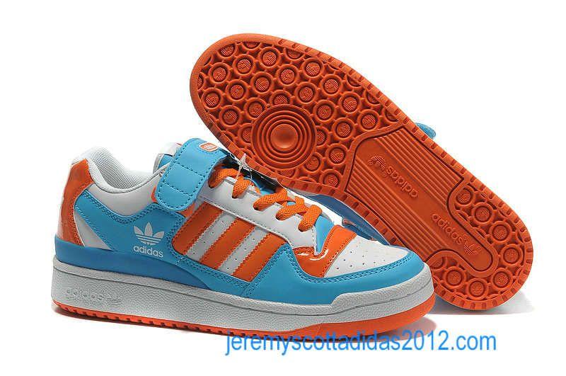 quality design 9896b 3ce70 Mens Adidas Forum 2012 LO RS Leather Royal Blue Orange White 74 8355