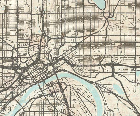 SAINT PAUL MN Canvas Print Minnesota Vintage map St Paul mn Vintage