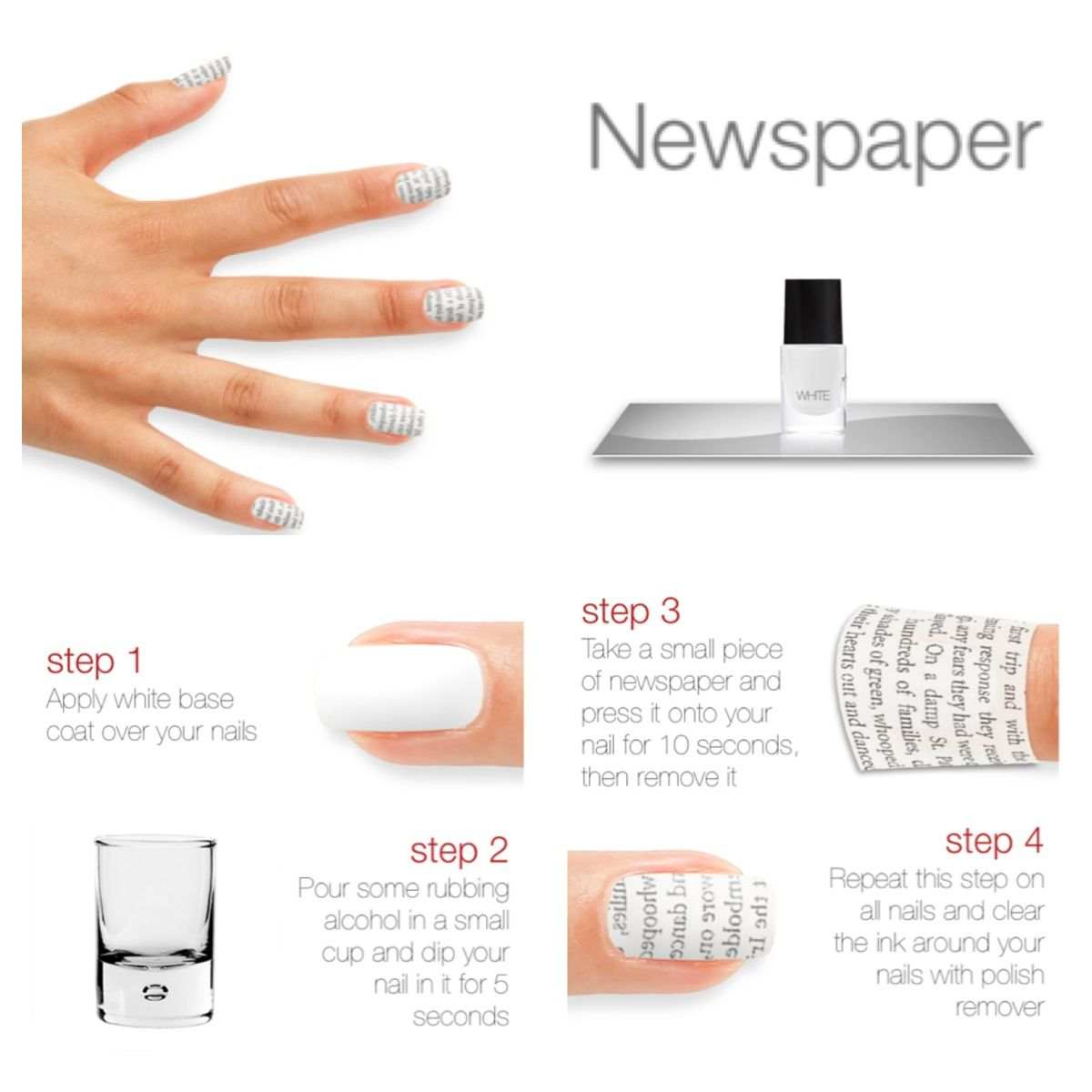 Nail Art Ideas » Nail Art Newspaper Without Alcohol - Pictures of ...