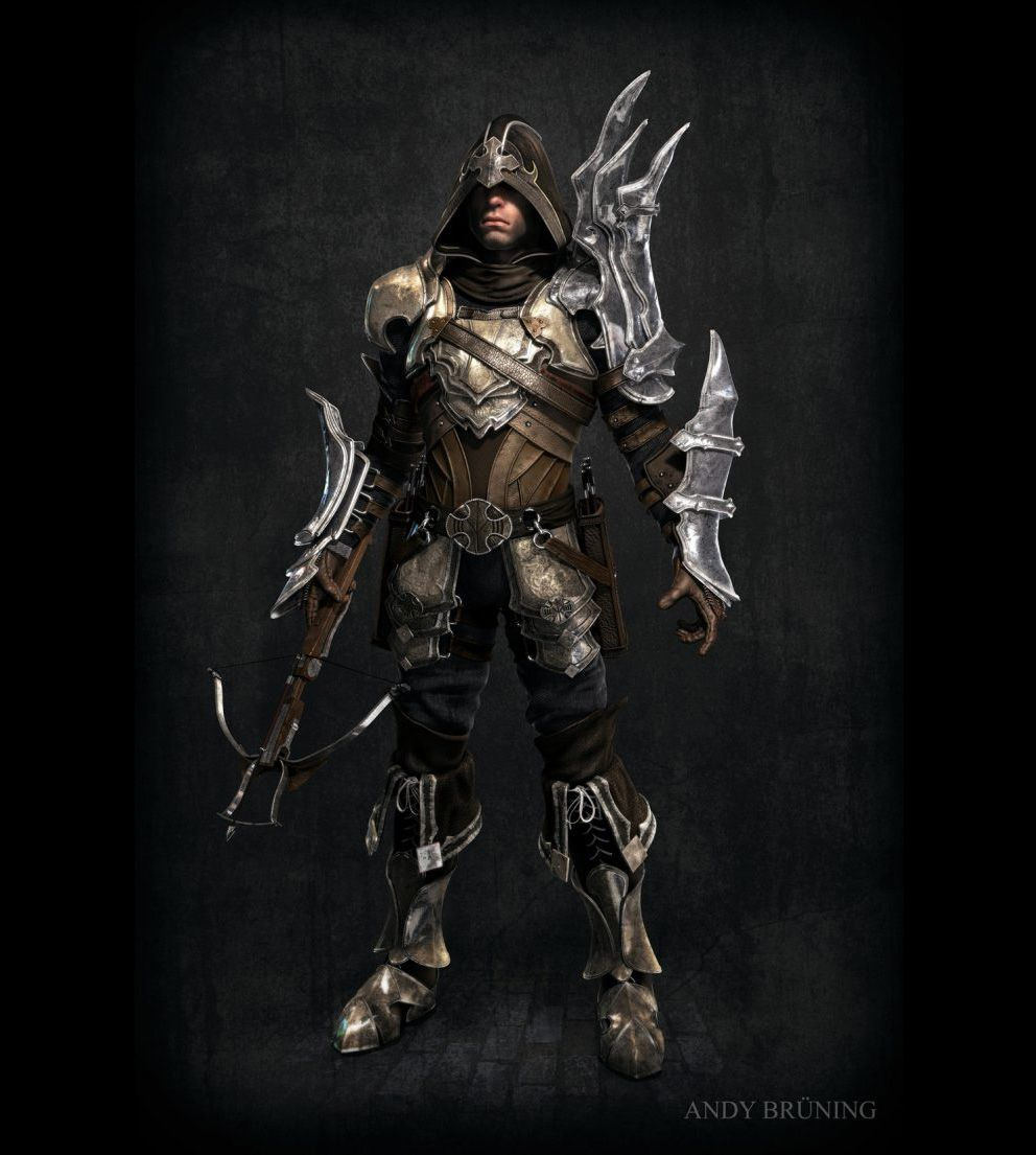 Concept art demon hunter diablo iii 3d concept art for Demon hunter
