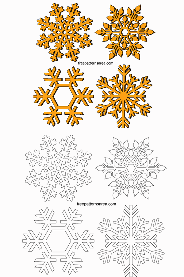 Snowflakes Free Transparent Clipart Vector Pattern (With