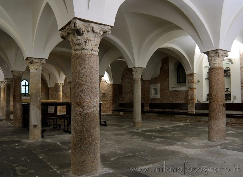 Crypt of the Basilica of San Vincenzo in Prato in Milan (Italy)