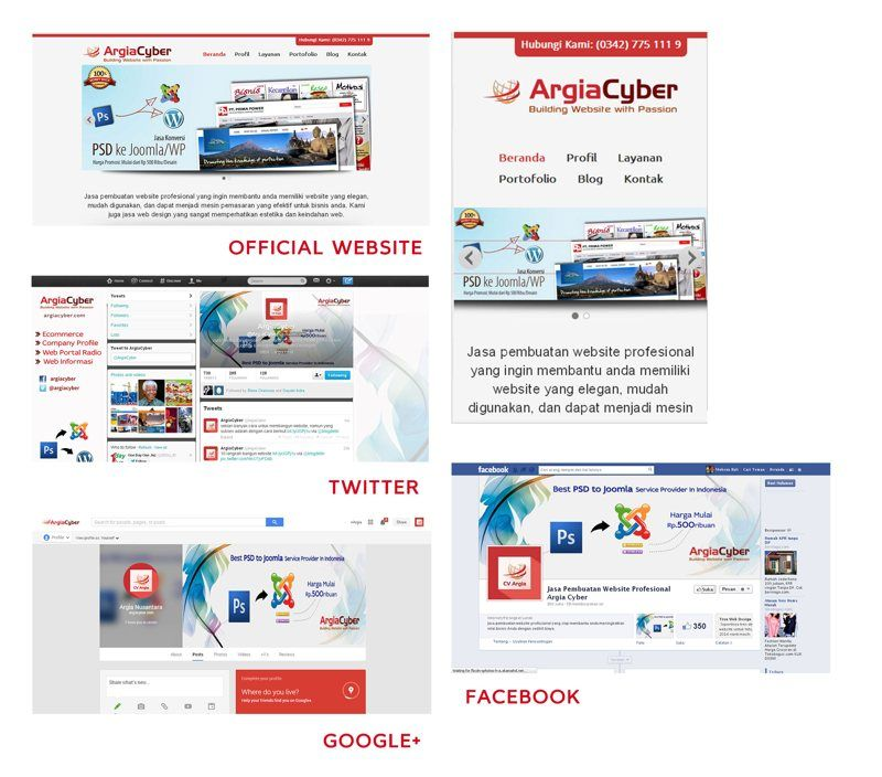 Salah Satu Contoh Pengaplikasian Cohesive Branding Web Design