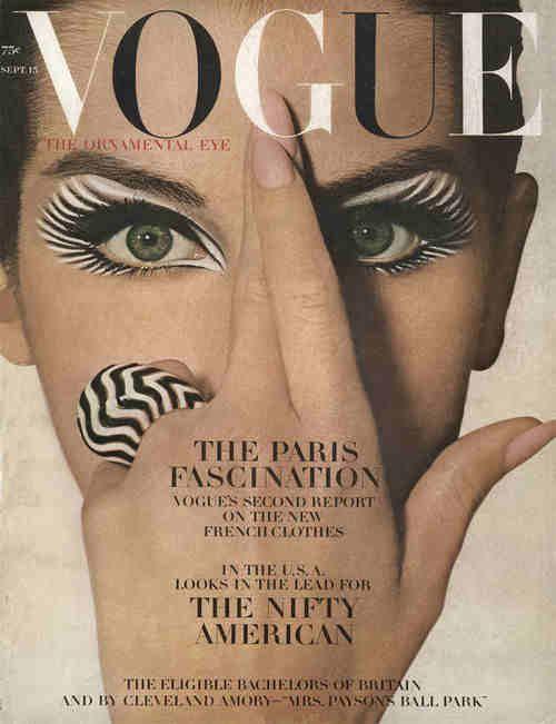 Make up artistico per Vogue, 1964.