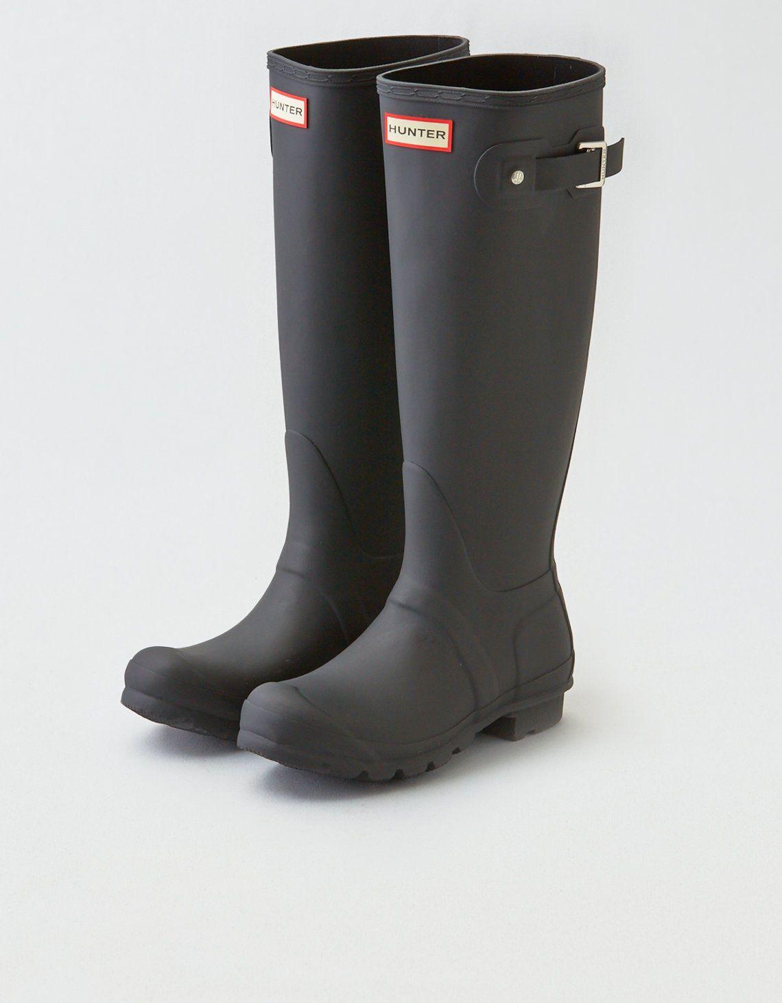 653bc571e276 US  99.00 Hunter Original Tall Rain Boots Black Matte Size 8