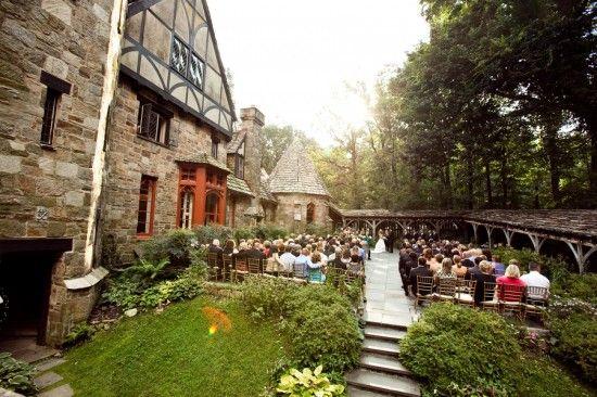 Fairytale Maryland Wedding Ceremony Cloisters Castle Borrowed Blue
