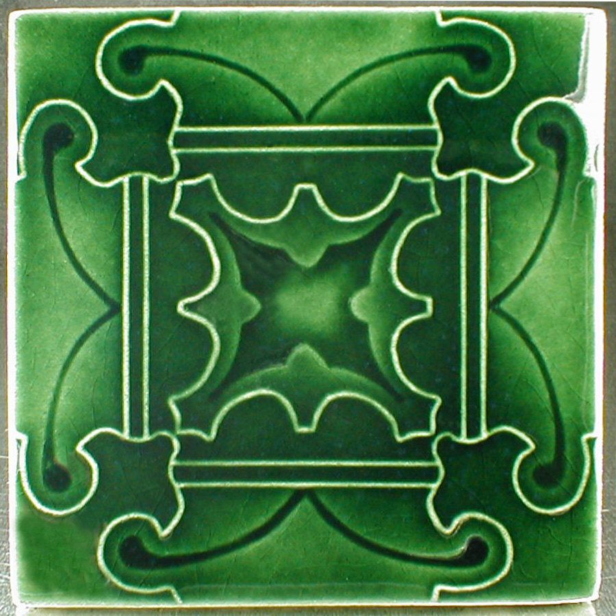Ceramic Tile Art Tile Butterfly Tile Green Tiles Accent Tile