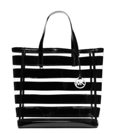0f05cc06d90ac2 MICHAEL Michael Kors Eliza Clear Striped Large Beach Tote | Bag lady ...
