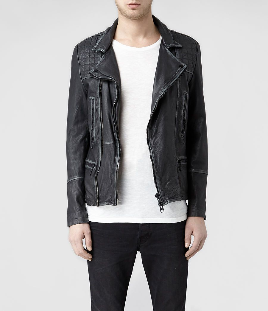 ecaca7abf7 Allsaints cargo leather Biker Jacket