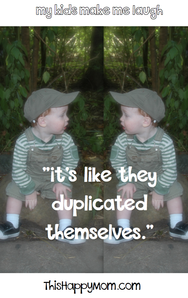 When kids become aware of twins, they come up with some creative ways to describe it.