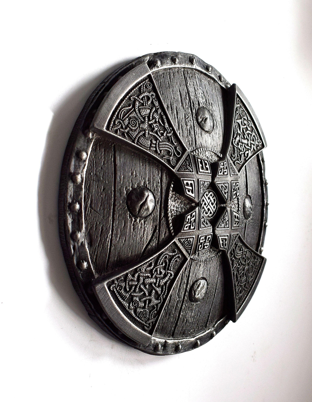 Viking Decor Axes Shield Scandinavian Folk Art Viking Wall Etsy Viking Decor Viking Shield Boyfriend Gifts