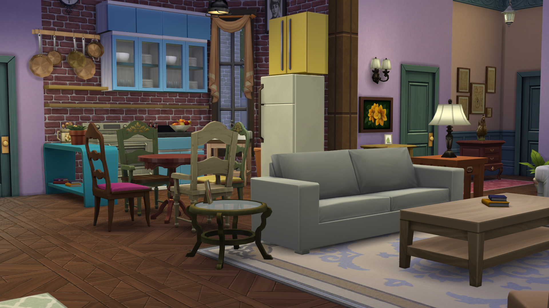 Here S How Friends Apartment Looks Like In The Sims 4 Friends Apartment Rachel Friends Friends Tv