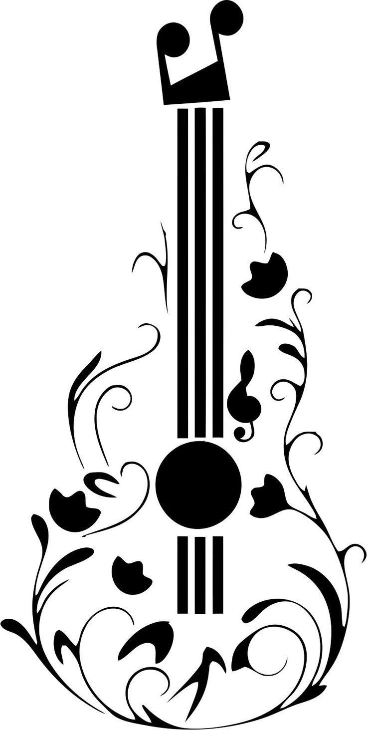 Guitar Tattoo Design Free Vector cdr Download Stensiller