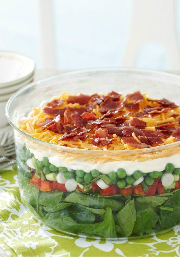 Seven Layer Salad Recipe Layered Salad Seven Layer Salad Layered Salad Recipes