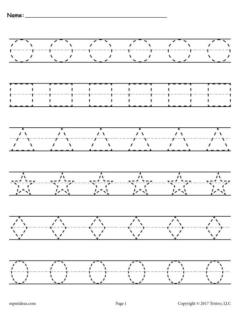 Free Shapes Tracing Worksheets Shape Tracing Worksheets Tracing Worksheets Preschool Shapes Worksheets Worksheets for learning to write