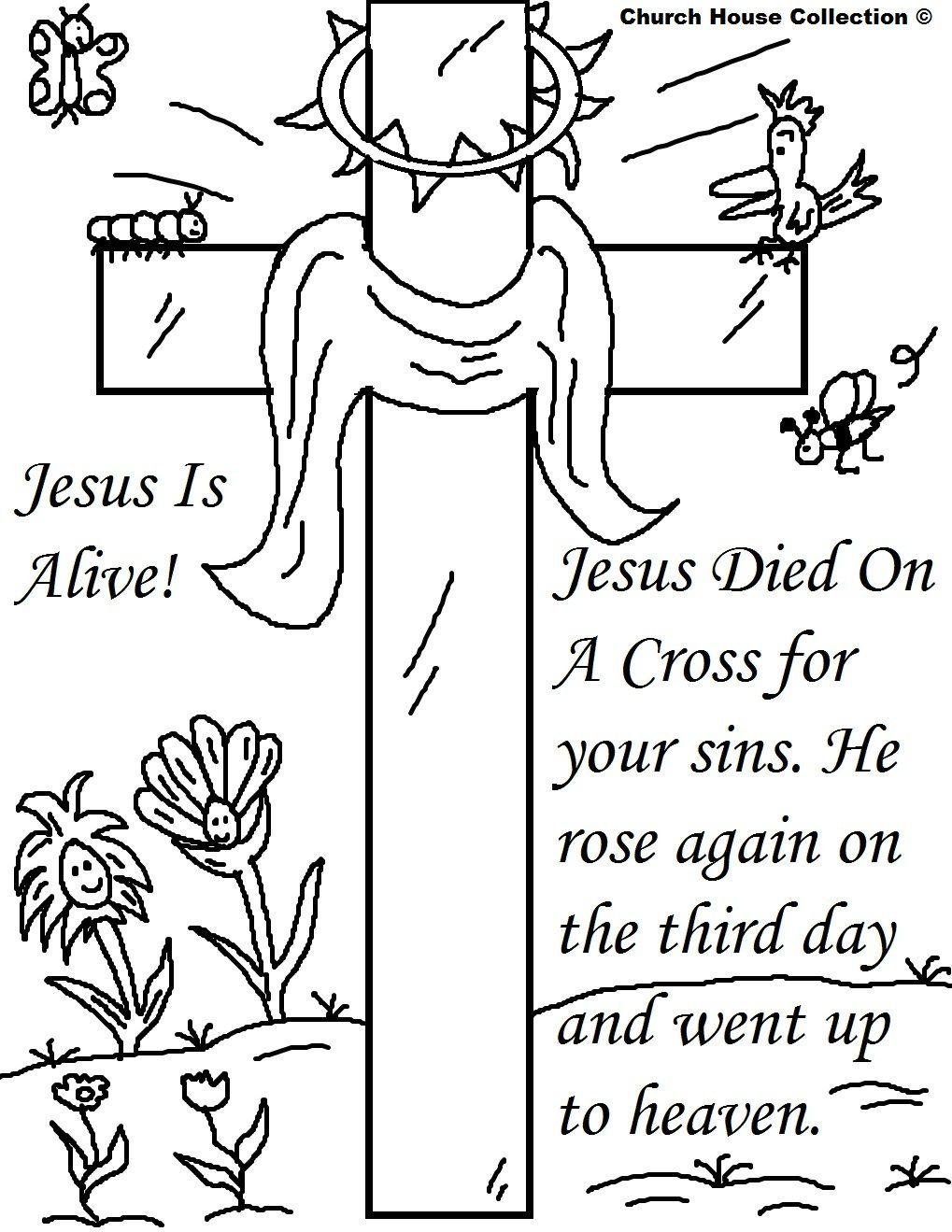 25 religious easter coloring pages sunday school for Free religious coloring pages