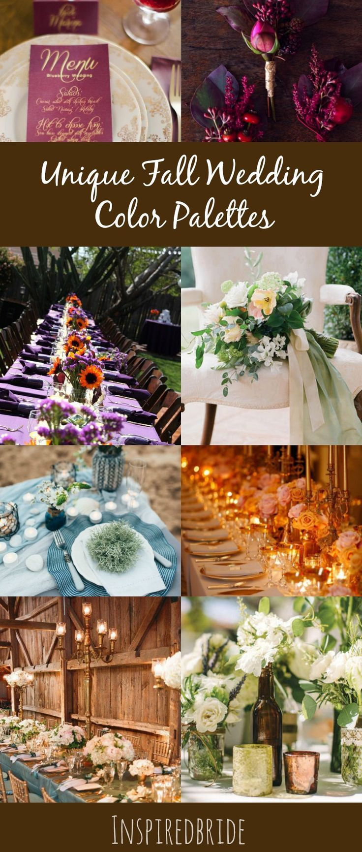 Unique Fall Wedding Color Palettes Weddings Nontraditional And Summer