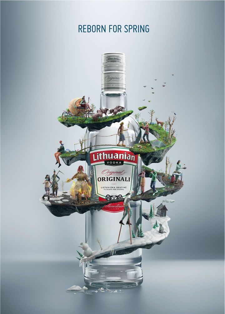 Lithuanian Vodka Advertising Design Visual Creative Ideas Agency