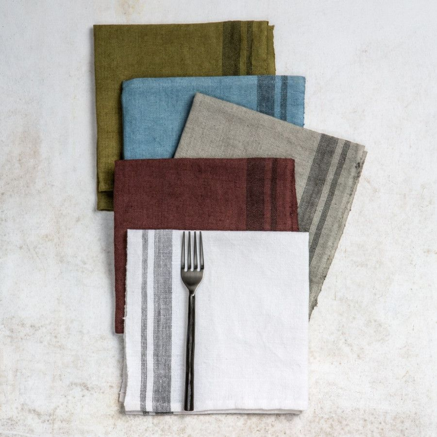 Eetkamer Elise Servet Elise Set Van 4 Aan Tafel Napkins Set Natural Kitchen